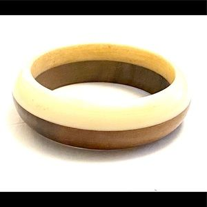 Vintage Bone Wood Boho Bangle Bracelet